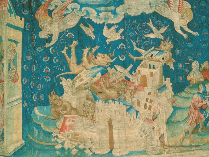 Ausschnitt Wandteppich Zyklus der Apokalypse von Angers