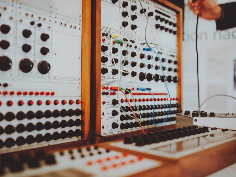 Ausschnitt Buchla Synthesizer Ernst Krenek