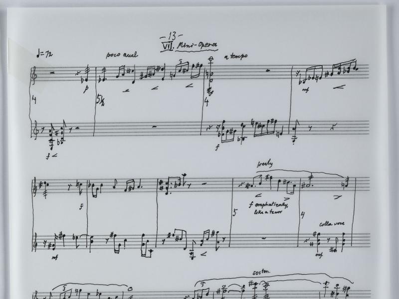 Autograph Ausschnitt, Suite für Gitarre und Mandoline op.242 Ernst Krenek