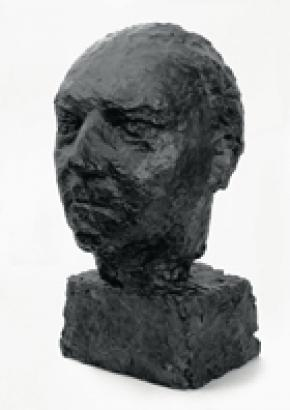 Ernst Krenek, Büste hergestellt von Anna Mahler