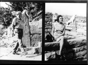 Doppelportrait von Ernst Krenek und Gladys Nordenstrom Krenek, Hochzeitsreise Griechenland 1960