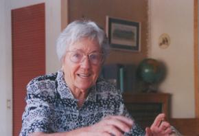 Gladys Nordenstrom Krenek Portrait im Haus Palm Springs